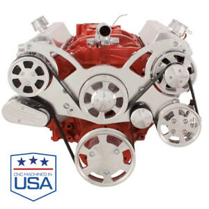 Small Block Chevy All Inclusive Serpentine Kit Ac Ps Alt 283 302 305 327 350 400