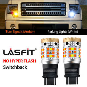Switchback Front Turn Signal Lights For Ford F150 1990 2014 Led Bulb 3157 Canbus