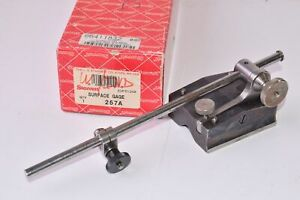 Starrett 257a Universal Surface Gage W 9 Spindle