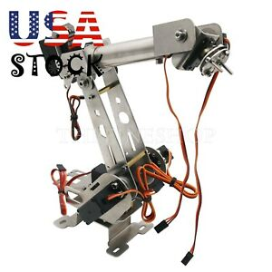 6 Dof Mechanical Robot Arm Clamp Servos Diy Kit For Arduino Scm Unassembled us