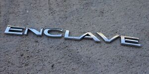 Buick Enclave Emblem Letters Badge Decal Logo Trunk Oem Factory Genuine Stock