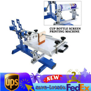 Used Curve Screen Printer Machine For Bottles Cups Mugs Tubes Pens Sale