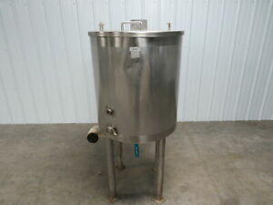 Stainless Steel Ss 56 Gallon Jacketed Double Walled Holding Mixing Tank Kettle
