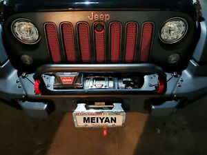 Bumper Grille Winch Guard Fits 07 18 Jeep Wrangler Rubicon Sahara 77072349