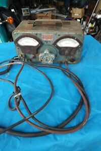Vintage Portable Sun Electric Battery And Alternator Tester Working Art