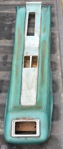 1968 Mustang Center Console Aqua Pad W Trim Insert Oem Ford Automatic Trans