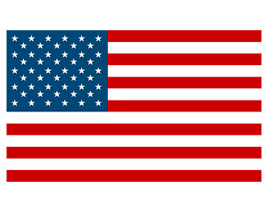 American Country Flag Sticker Decal 5yr Vinyl State Flag Windows Cars Trucks