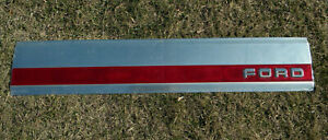 Ford 1987 1991 1992 1996 F 150 F 250 Aluminum Tailgate Trim Panel Red Reflector