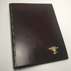H H Taylor Leather 3 Ring Classic Size Planner Binder Duck Vintage Quality Rare