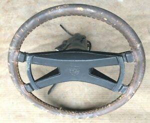 Vintage Porsche 914 Bat Wing Style Steering Wheel Assembly 91461330613