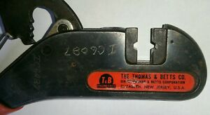 The Thomas Betts Co Ratcheting Crimpers Wt402 Malco T b Usa Shield kon