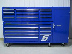 Snap On Royal Blue Classic 96 Tool Box With Top Chest And Locker