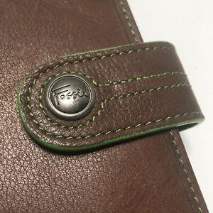 Fossil Brown Leather Small Folio Journal Notebook Cover