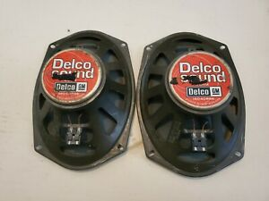 Two Gm Delco Sound 4 Ohm 6 X 9 Car Speakers 16040886 Pair