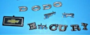 Chevy Dodge Ford Mercury Letters And Emblems