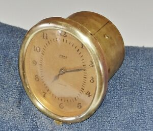 Vintage Dash Clock Glove Box Clock 1920s 1930s Brass Borg Electric Clock