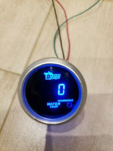 2 Digital Led Water Temperature Gauge Water Temp Blue 52mm