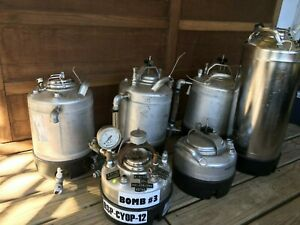Lot Of 6 Alloy Products Stainless Steel General Purpose Pressure Vessel Tank