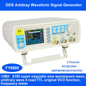 Fy6800 Dds Function Signal Generator Double Channel 14bits Am fm pm ask fsk psk