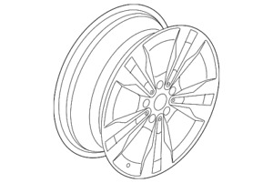 Genuine Amg Multi Spoke Wheel 48 3 Cm 19 Inch 20540113007x21