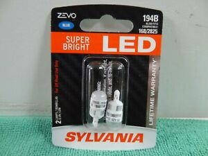 New Sylvania Zevo Led 194b Blue Pair Set Led Lamps Bulbs Also Fits 168b 2825b