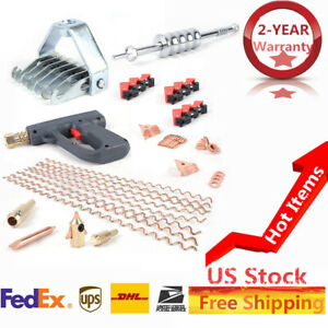 69pcs Stud Welder Dent Puller Kit Car Body Dent Spot Welding Repair Tool Usa