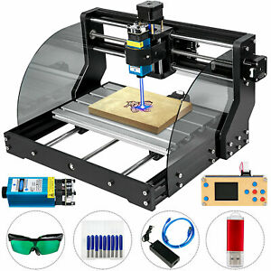 Cnc 3018 Pro Machine Router 3 Axis Engraving Pcb Wood Diy Mill 500mw Laser Head