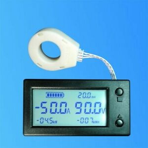Dc 0 300v Lcd Coulometer Battery Capacity Monitor Volt Ammeter Hall Sensor 200a
