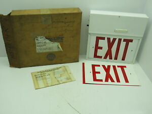 Emergi lite Wsmx14r Self Powered Battery Exit Sign Rechargeable 12 Red Exit