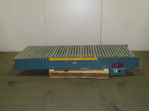 Metzgar 3 X 8 Power Roller Conveyor 5 Hp 230 460 3ph 63 Fpm W pneumatic Stop