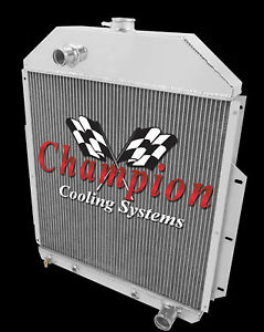 1942 1952 Ford Pickup Truck With Chevy V8 Champion 2 Row Aluminum Radiator