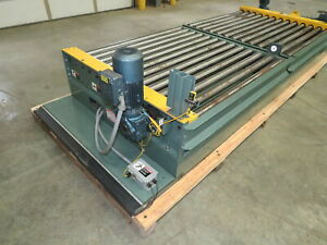 Hytrol Powered Roller Conveyor Sliding Pallet Transfer Cart 2 Pallet Unit
