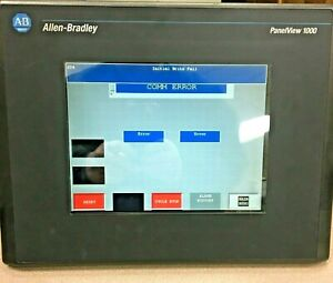 Allen bradley 2711 t10c20l1 Panelview 1000 Touch Screen Panel W mounting Clamps