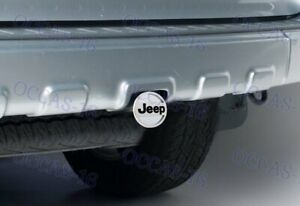Polished Stainless Steel Hitch Cover Cap Plug For Jeep 2 Trailer Tow Receiver