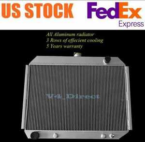26 Core 3 Row Aluminum Radiator For 1968 1974 69 Dodge Coronet charger Plymouth