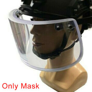 Ballistic Bulletproof Face Guard Shield Protect Mask For M88 Fast MICH Helmet $202.85
