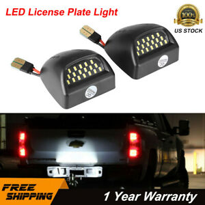Bright Smd Led License Plate Lights Lamp For 1999 2013 Chevy Silverado Avalanche