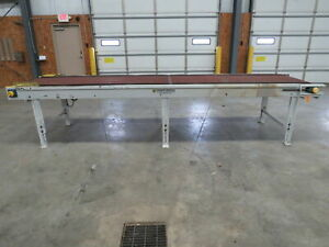 Tunkers Mastech Motorized Powered Flat Straight Belt Conveyor 36 x 38 x 15 Ft