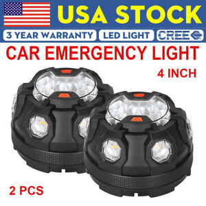 12w Amber White Led Emergency Warning Strobe Lights Bars Car Dash Grille Tow New