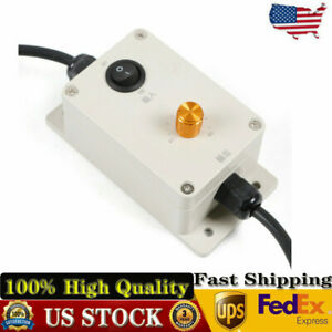 New Ac Vibration Motor Governor Variable Speed Controller With Switch 220v 110v