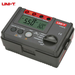 Uni t Ut501a Insulation Tester High Voltage Input Alarm Voltmeter Lcd Backlight
