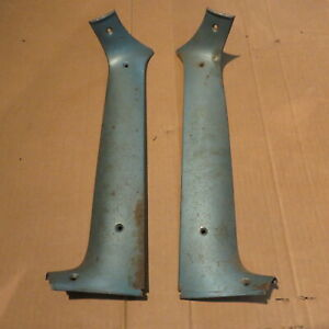 1955 Ford Victoria Interior Vertical Inside Windshield Moulding A Pair Nos Fit