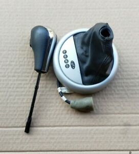 02 06 Mini Cooper Automatic Gear Shifter Trim knob Leather Oem