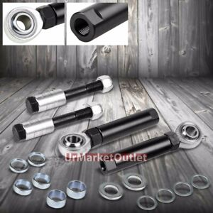 Black Outer Adjustable Ball Joint Bump Steer Kit For Ford 94 04 Mustang Sn 95