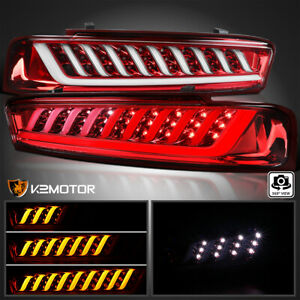 Fits 2016 2018 Chevy Camaro Tail Brake Lights Lamps W Led Sequential Signal Bar