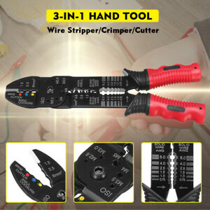 Professional Wire Striper Cutter Stripper Crimper Pliers Electric Cable Cut