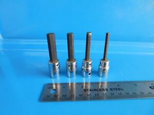 Used Mac Tools 38 In Drive Hex Sockets 316 14 516 38 Inch Lot Of 4