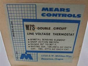 Mears M7s Double Circuit Thermostat