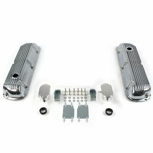 Vintage Finned Valve Covers W Breathers pcv small Block Ford 289 351 Custom