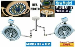 Brand New Double Dome Ceiling Led Operation Theater Light Ot Room Surgical Lamp